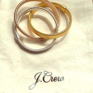 Jcrew Interlocking Stretch Bracelets